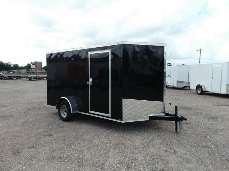 2016 Spartan Cargo Trailer 7x12 Single Axle Cargo / Enclosed Trailer w/ Ramp Gate