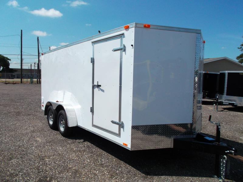 2014 Continental Cargo 7x16 Tandem Axle Cargo / Enclosed Trailer