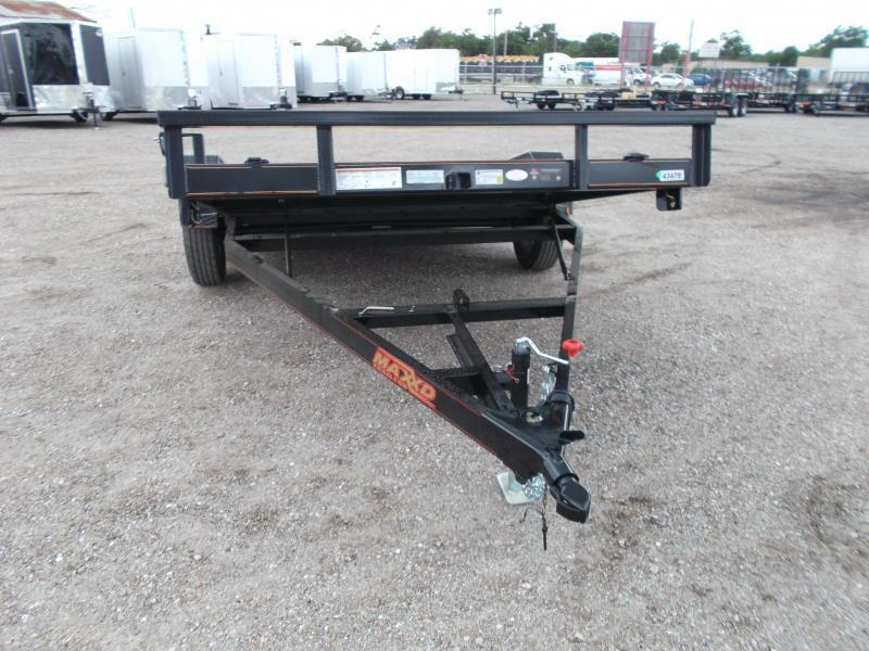 SPECIAL - 2019 Maxxd Trailers 14ft Gravity Tilt Side by Side Trailer / ATV Trailer / Powder Coated / LEDs
