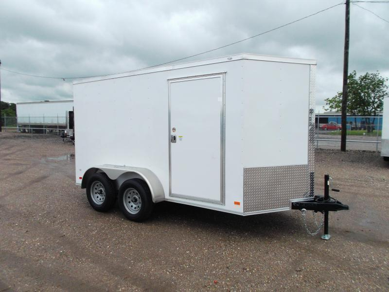 BLACK - 2019 Covered Wagon Trailers 6x12 Tandem Axle Cargo Trailer / Enclosed Trailer / Barn Doors / RV Side Door / LEDs