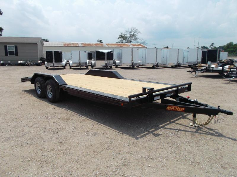 "2018 Maxxd 102""x20' 10K Car Hauler / Racing Trailer / Flatbed w/ Drive Over Fenders / Powder Coated"
