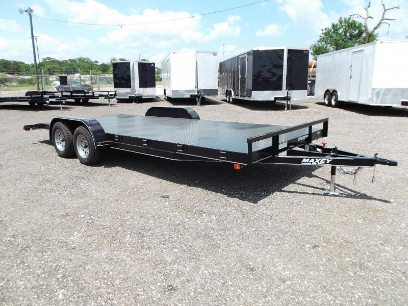 2015 Maxey 83x20 Steel Deck Car / Racing Trailer