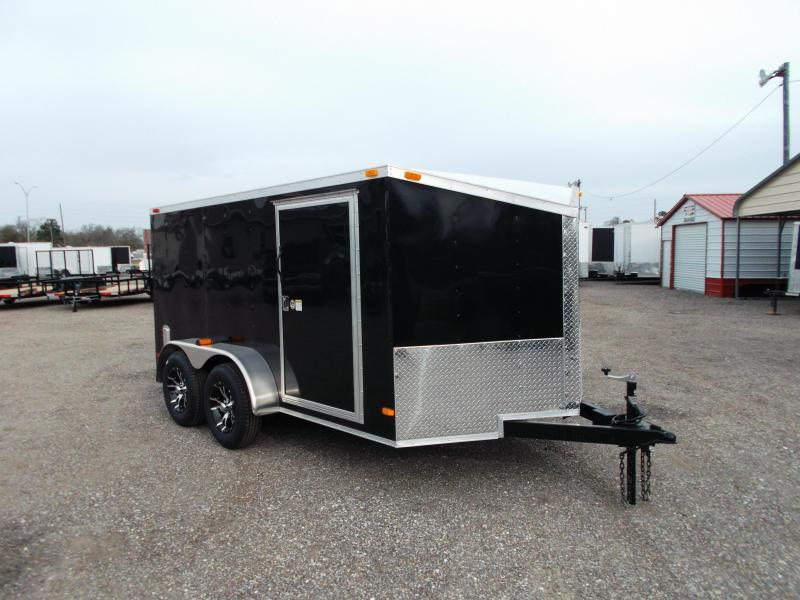2015 Covered Wagon Trailers 7x12 Tandem Axle Low Profile Motorcycle Trailer