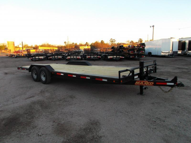 2018 Maxxd 102x24 14K Car Hauler / Flatbed Trailer / Equipment Hauler / Powder Coated / Drive Over Fenders / 7K Axles
