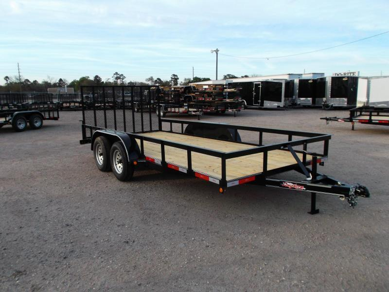 2019 Longhorn Trailers 16ft Utility Trailer / 2ft Dovetail / 4ft Heavy Duty Ramp