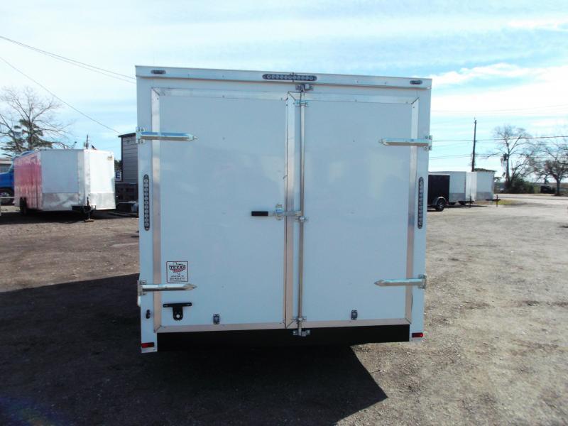"SPECIAL - 2019 Lark 7x16 Tandem Axle Cargo Trailer / Enclosed Trailer / 6'6"" Interior Height / Barn Doors / LEDS / 5 YR WARRANTY"