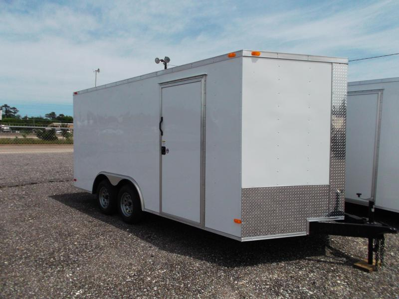2015 Covered Wagon Trailers 8.5x16 Tandem Axle Cargo / Enclosed Trailer