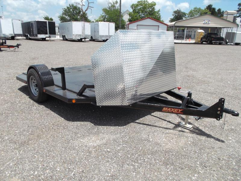 2015 Maxey 82x10 (1 - 3) Bike Motorcycle Hauler Motorcycle Trailer