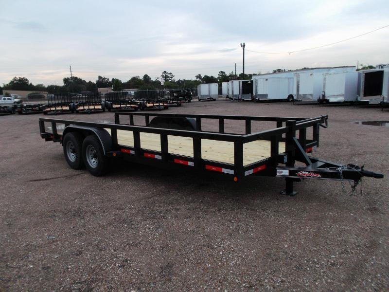 "2019 Longhorn Trailers 83x20 Utility Trailer w/ 7000# Axles / 3"" Square Tubing / 5ft Ramps"