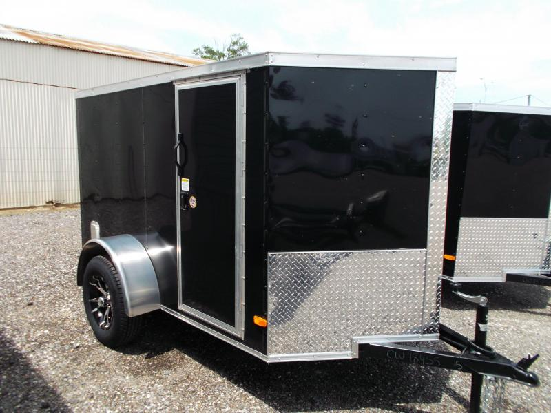 2015 Covered Wagon Trailers 5x8 Single Axle Motorcycle Trailer