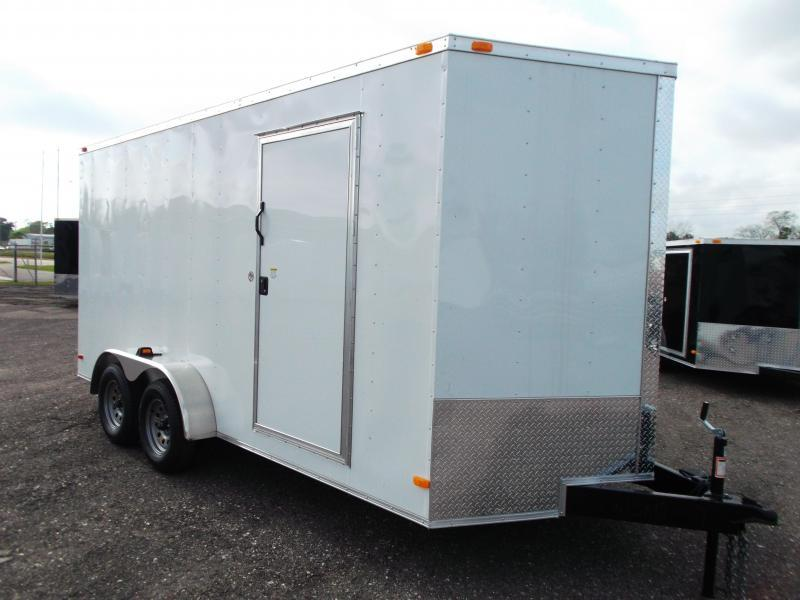 2015 Covered Wagon Trailers 7x16 Tandem Axle Cargo / Enclosed Trailer w/ 7ft Interior