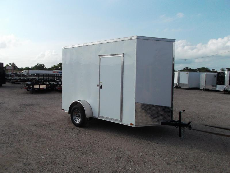 2016 Spartan Cargo Trailers 6x10 Single Axle Cargo / Enclosed Trailer w/ V-Nose & 7ft Interior & Ramp