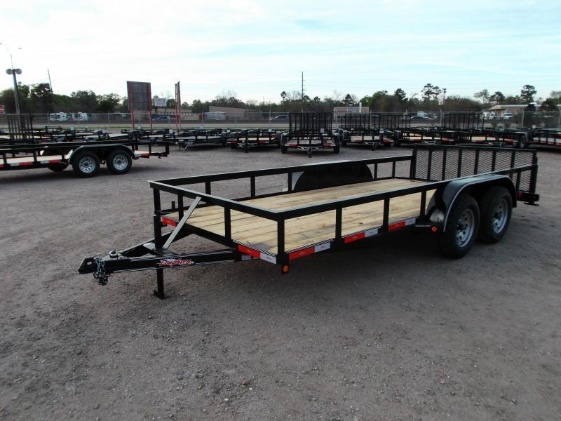 2019 Longhorn Trailers 16ft Utility Trailer / ATV Trailer w/ 2ft Dovetail / 2ft Ramp Gate