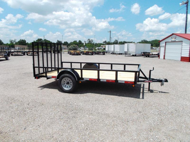 2016 Longhorn Trailers 77x12 Single Axle Utility Trailer w/ Heavy Duty 4ft Ramp