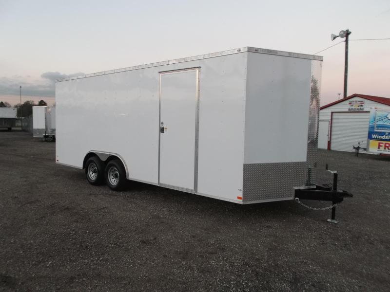 2018 Covered Wagon Trailers 8.5x18 Tandem Axle Cargo / Enclosed Trailer w/ Ramp / 5200# Axles