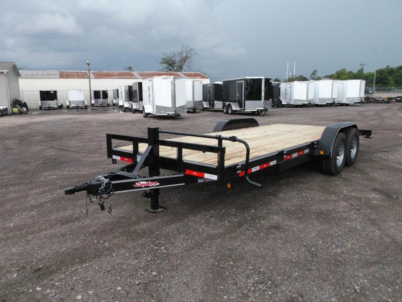 2018 Longhorn Trailers 20ft Tandem Axle 14K Car Hauler / Racing Trailer / Flat Deck / 7000# Axles / 2ft Dovetail / 5ft Ramps
