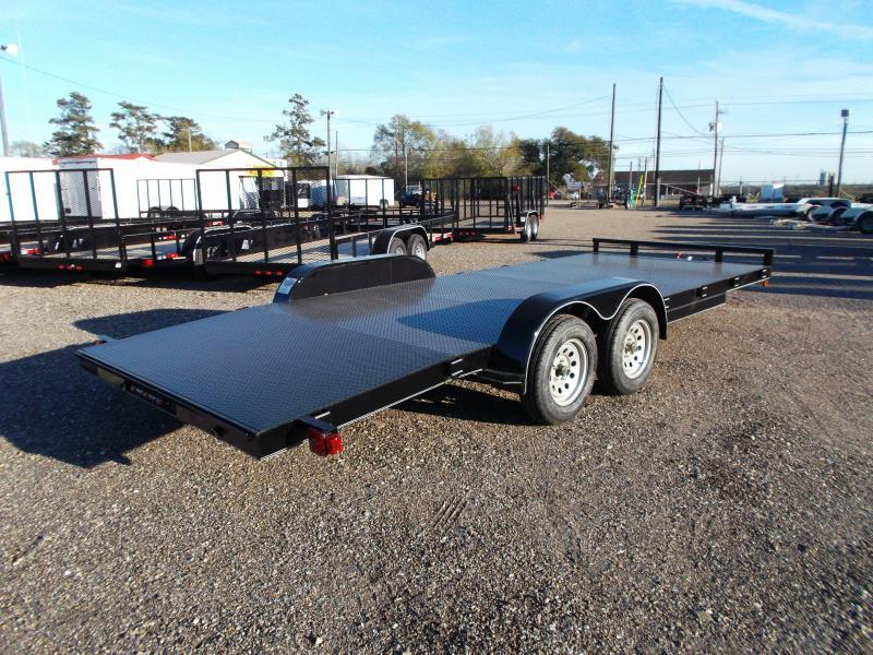 2015 Maxey 83x20 Steel Deck Car / Racing Trailer w/ 4ft Dovetail