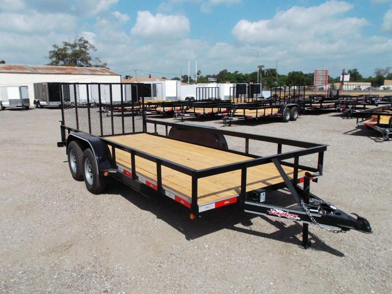2018 Longhorn Trailers 16ft Utility Trailer w/ 4ft Heavy Duty Ramp / Electric Brakes