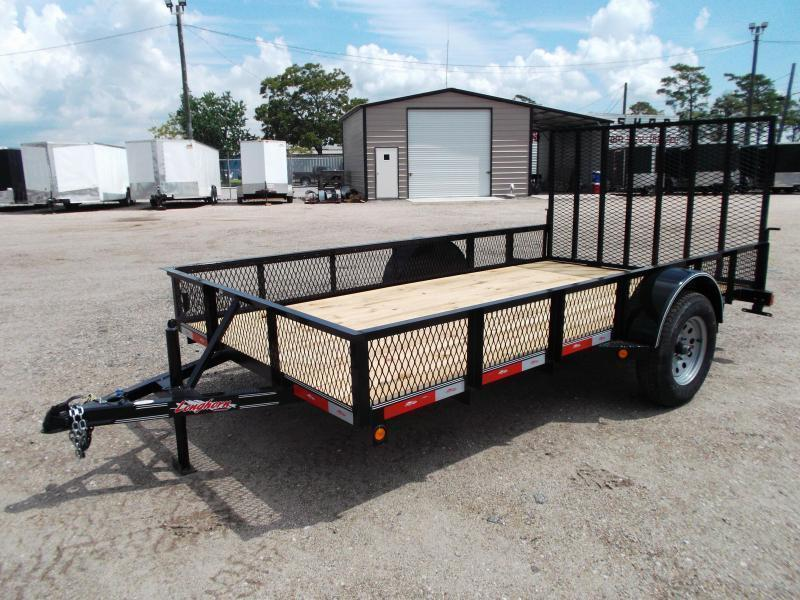 "2018 Longhorn Trailers 77x12 Single Axle Utility Trailer / Landscape Trailer w/ 15"" Expanded Metal Sides / 4ft Heavy Duty Ramp Gate"