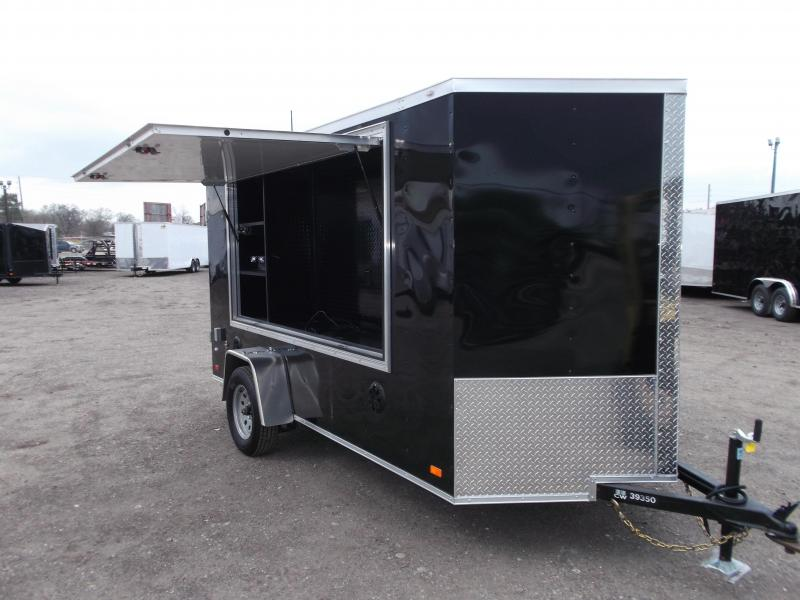 2019 Covered Wagon Trailers 6x12 Tailgate Trailer w/ Stereo Package