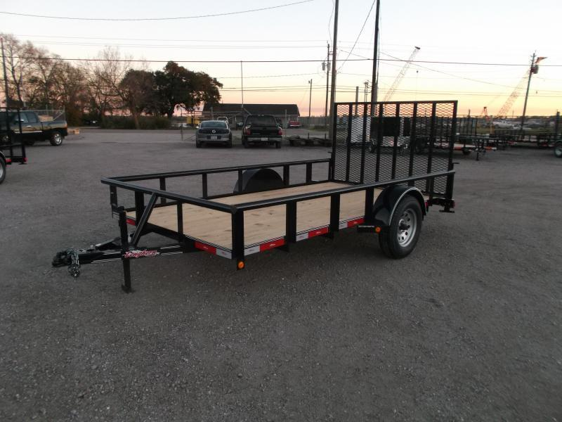 2018 Longhorn Trailers 77x12 Single Axle Utility Trailer w/ Pipetop / Heavy Duty 4ft Ramp