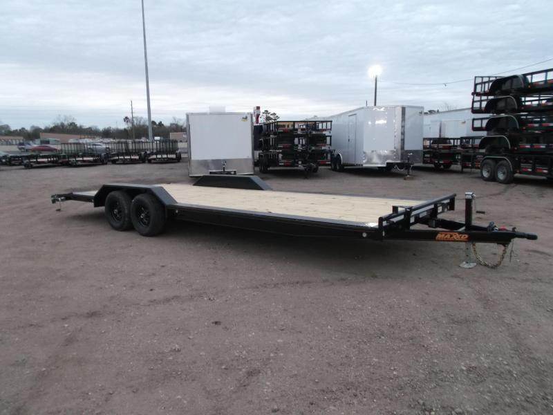 2019 Maxxd 102x24 10K Car Hauler / Flatbed Trailer / Equipment Hauler / Powder Coated / 5200# Axles / Drive Over Fenders