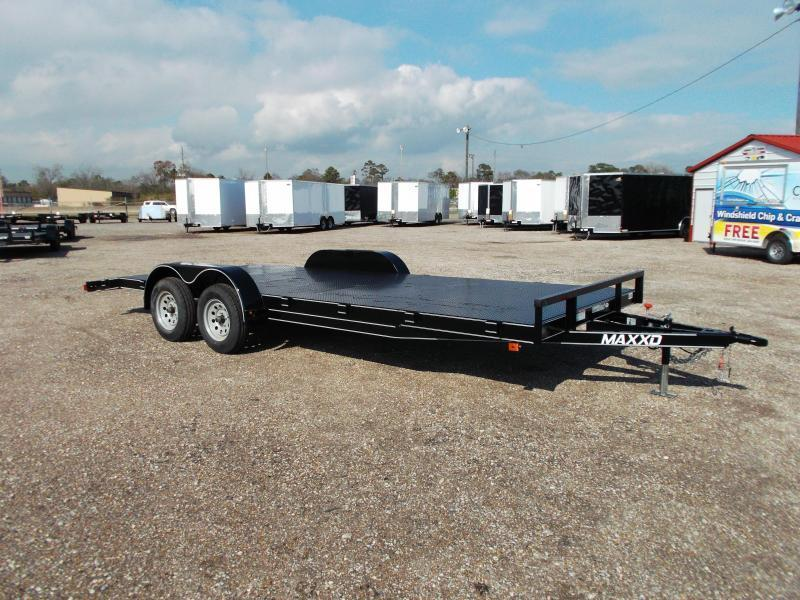 2016 Maxey 83x20 Steel Deck Car / Racing Trailer