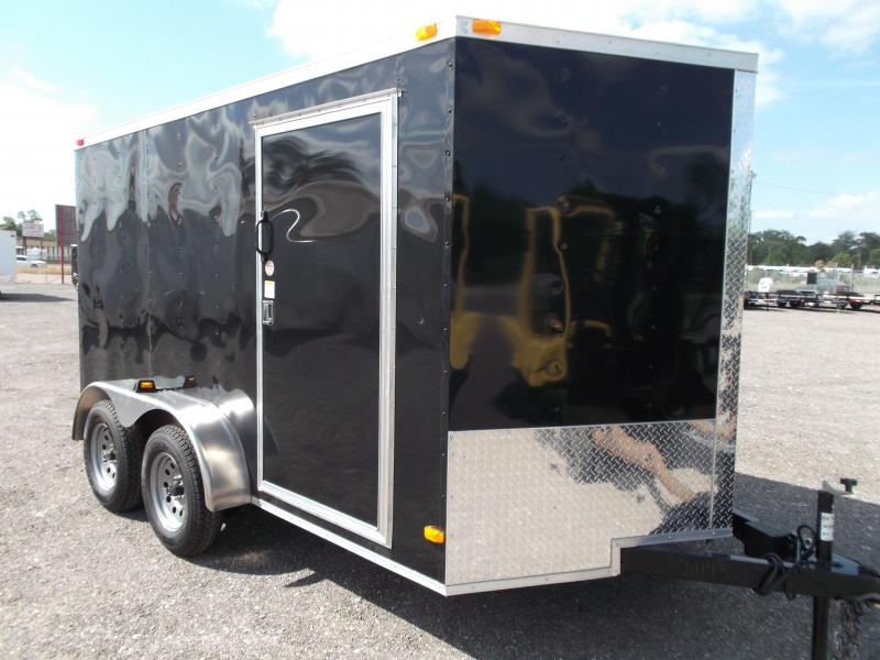 2015 Covered Wagon Trailers 7x12 Tandem Axle Cargo / Enclosed Trailer