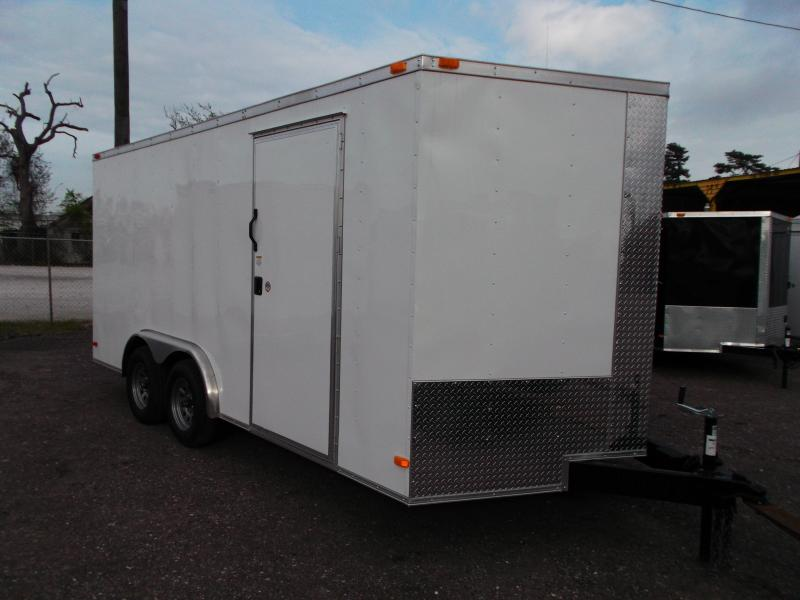 2014 Covered Wagon Trailers 8x16 Tandem Axle Cargo / Enclosed Trailer