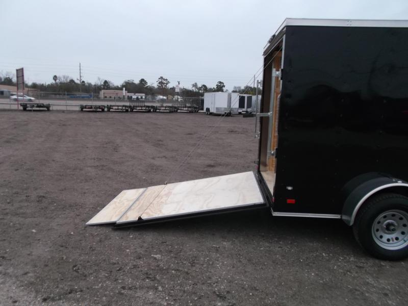 SPECIAL - 2019 Covered Wagon Trailers 6x10 Single Axle Cargo / Enclosed Trailer / V-Nose / Ramp Gate / RV Side Door / LEDs