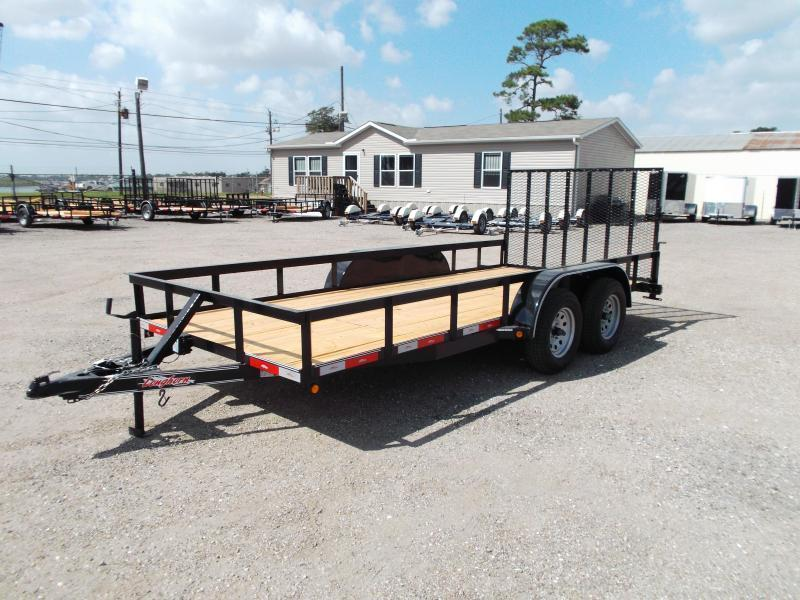 2016 Longhorn Trailers 16ft Utility Trailer w/ 4ft Heavy Duty Ramp