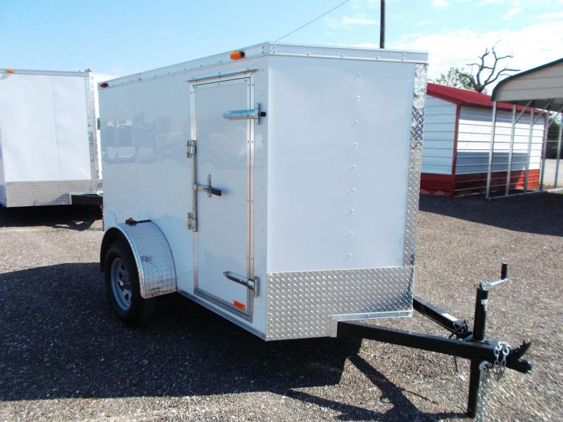 2014 Continental Cargo 5x8 Single Axle Cargo / Enclosed Trailer