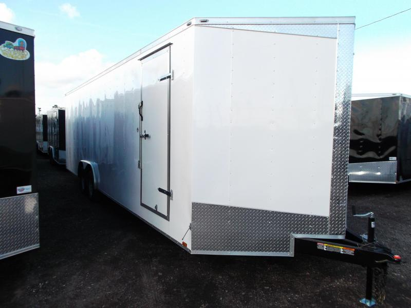 2018 Lark 8.5x28 Tandem Axle Cargo Trailer / Enclosed Trailer / Car Hauler / 5200# Axles / 7ft Interior / Ramp