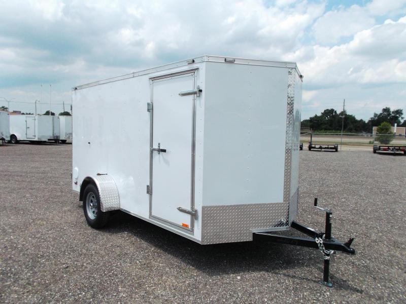 2015 Continental Cargo 6x12 Single Axle Cargo / Enclosed Trailer