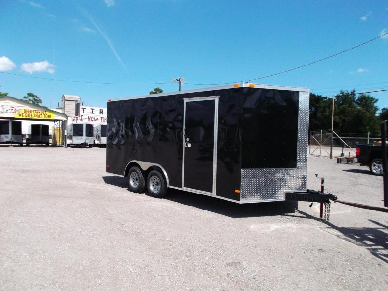 2016 Covered Wagon Trailers 8.5x16 Tandem Axle Cargo / Enclosed Trailer