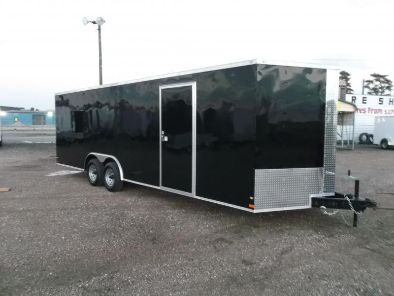2017 Covered Wagon Cargo 8.5x24 Tandem Axle Cargo / Enclosed Trailer w/ 5200# Axles