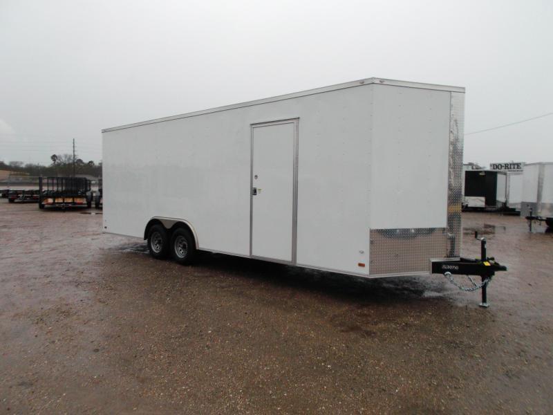 SPECIAL - 2019 Covered Wagon Cargo 8.5x24 Tandem Axle Cargo Trailer / Car Hauler w/ 7ft Interior / 5200# Axles / Heavy Duty Ramp / RV Side Door / LEDs