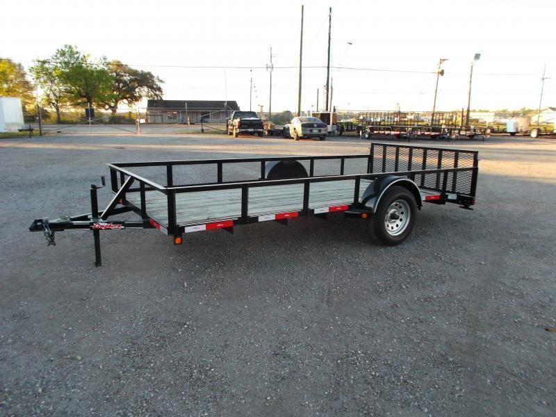 2016 Longhorn Trailers 77x14 Single Axle Utility Trailer w/ 2ft Dovetail & 2ft Ramp Gate