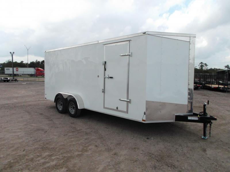 "2018 Lark 7x18 Tandem Axle Cargo Trailer / Enclosed Trailer / Ramp / 6'6"" Interior"