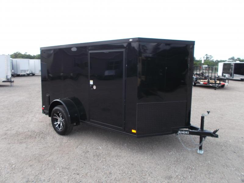 2016 Covered Wagon Trailers 6x10 Single Axle Low Profile Motorcycle Trailer w/ Black Out Package & Mags & Ramp