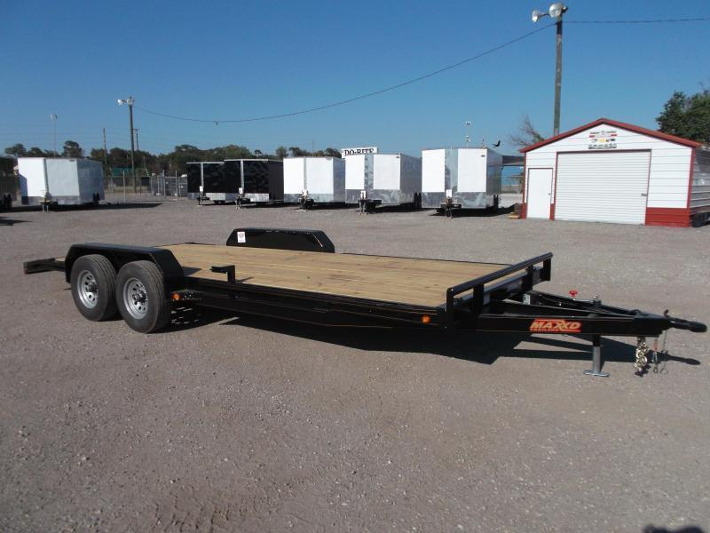 2019 Maxxd 83X20 10K Car Hauler / Race Car Trailer / Flatbed Trailer / Equipment Trailer / Powder Coated / 5200# Axles / LEDs
