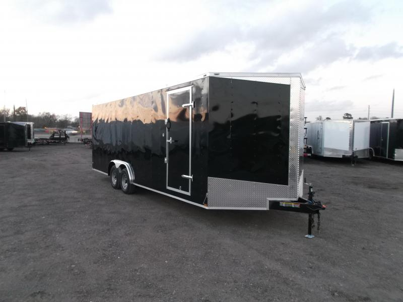 2018 Lark 8.5x24 Tandem Axle Cargo Trailer / Enclosed Trailer / Car Hauler / 5200# Axles / 7ft Interior / Ramp