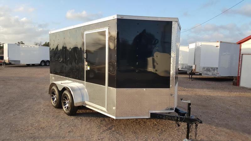 2017 Covered Wagon Trailers 7x12 Tandem Axle Motorcycle Trailer