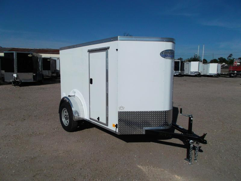 2017 Continental Cargo 5x8 Single Axle Cargo Trailer / Enclosed Trailer w/ Ramp & Side Door