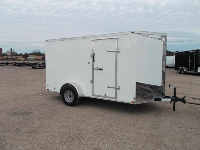 "2019 Lark 6x12 Single Axle Cargo Trailer / Enclosed Trailer / 6'6"" Interior Height / Barn Doors / LEDs"