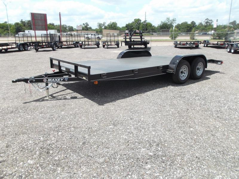 2015 Maxey 83x18 Steel Deck Car / Racing Trailer