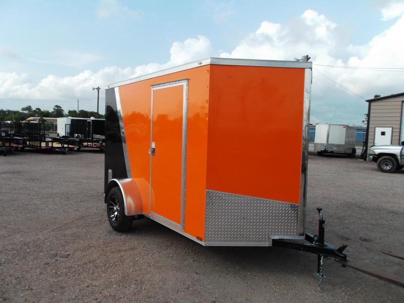 2016 Spartan Cargo 6x10 Single Axle Motorcycle / Enclosed Trailer w/ Mags & Orange / Black Slant Package