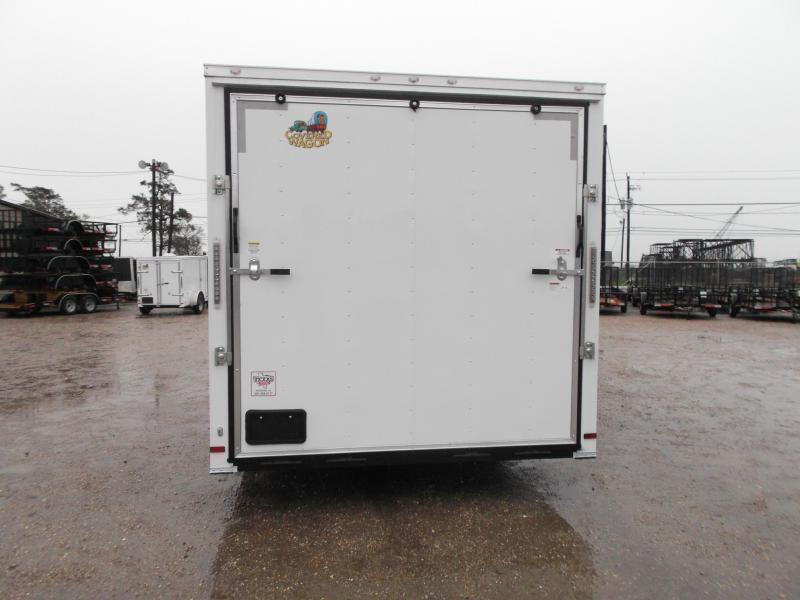 "SUPER SPECIAL - 2019 Covered Wagon Cargo 8.5x24 Tandem Axle Cargo Trailer / Car Hauler w/ 7'6"" Interior / 5200# Axles / Heavy Duty Ramp / RV Side Door / LEDs"