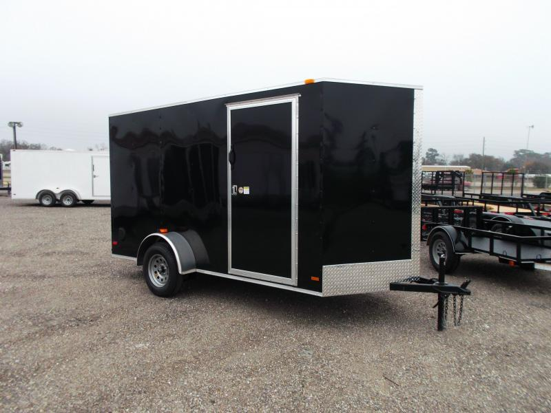 2016 Covered Wagon Trailers 6x12 Single Axle Cargo / Enclosed Trailer w/ 6