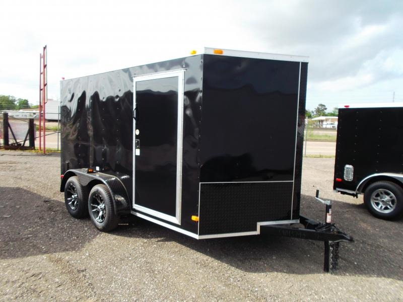 2014 Covered Wagon Trailers 7x12 Tandem Axle Blacked Out Motorcycle Trailer